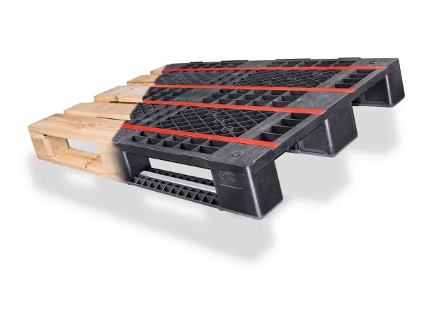 Holz war gestern: Auch bei der EPAL-Europlatte gibt es mittlerweile eine Alternative aus Kunststoff (© Cabka)